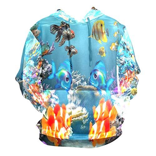 Chu warm Tropical Fish 3D Screensaver Hoodie 3D Pullover Hooded Long Sleeve Workout Sweatshirts -