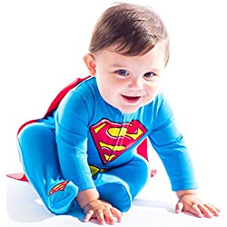 Warner Bros. Batman & Superman Baby Boys' Costume Coveralls with Cape