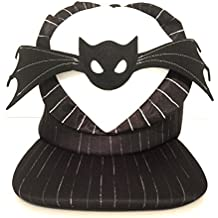 Disney Parks Jack Skellington Nightmare Before Christmas Bat Bowtie Flat Brim Hat