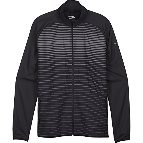 Saucony Men's Sonic Reflex Jacket, Large, Black (Sonic Saucony)