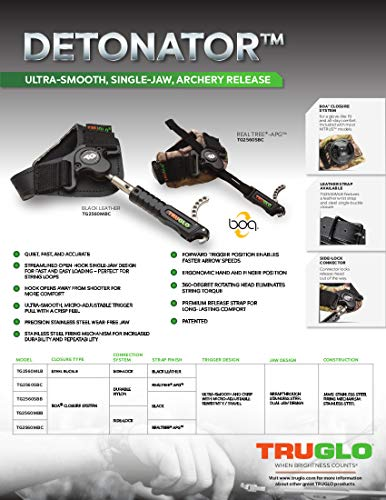 TRUGLO Detonator Ultra-Smooth Single Jaw Archery Release
