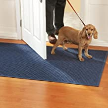 Waterhog Classic Entry Door Mat Navy Color, 2' X 3' with Rubber Water Dam Border for Indoor or Outdoor