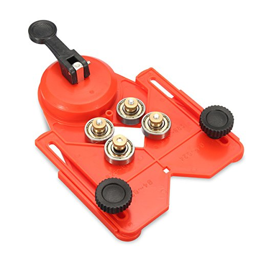 Hitommy Adjustable 4-83mm Guide Locator Tile Drill Bit Glass Hole Saw Guide Locator Openings Sucker - Red