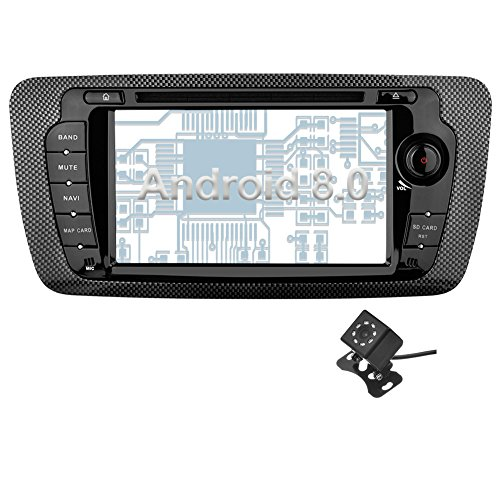 - Ohok Android 8.0 Car Stereo for SEAT IBIZA(2009-2013) 2 Din 7 Inch 8-Core 4GB RAM 32GB ROM Sat Nav Head Unit with DVD Player Supports Bluetooth WLAN OBD2 AUX Subwoofer AV Out