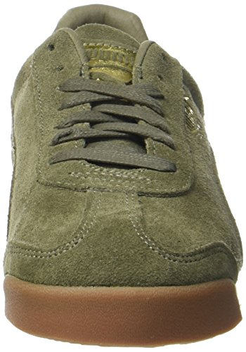 Puma Roma Natural Warmth, Scarpe da Ginnastica Basse Unisex-Adulto Verde (Olive Night-whisper White)