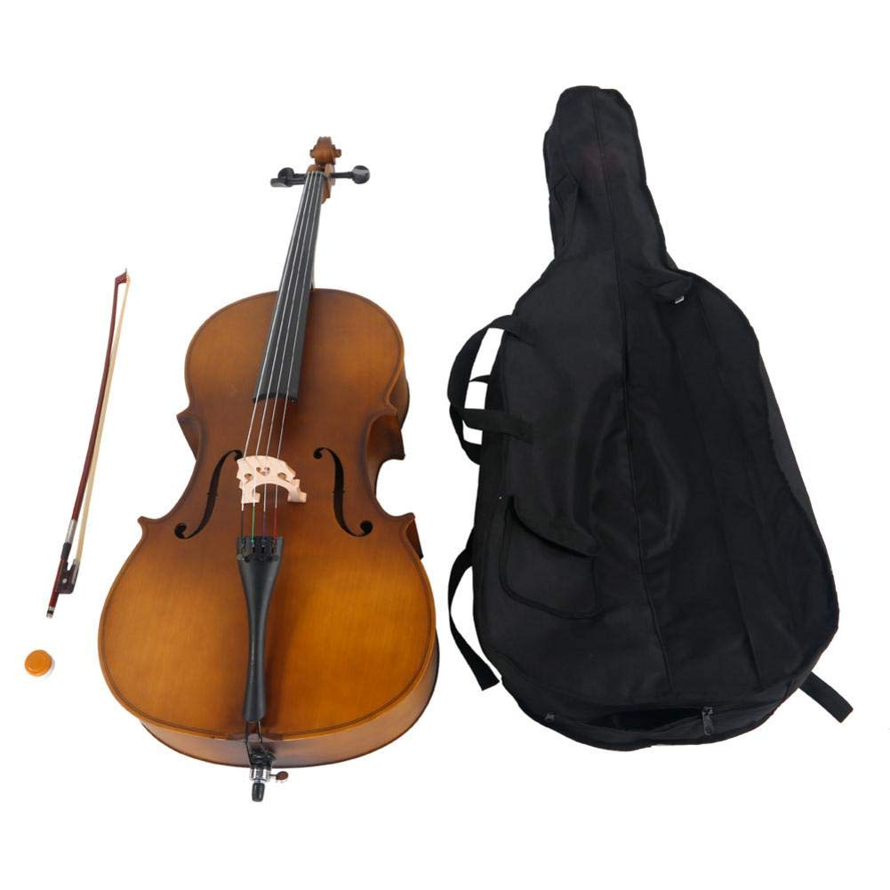 Futureshine 4/4 Acoustic Cello Case Bow Rosin with Stand, Bow, Rosin