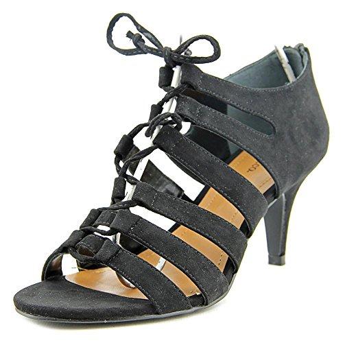 Style & Co. Style & Co. Womens Hannde Open Toe Casual Strappy Sandals Black Womens Hannde Bout Ouvert Sandales À Lanières Casual Noir
