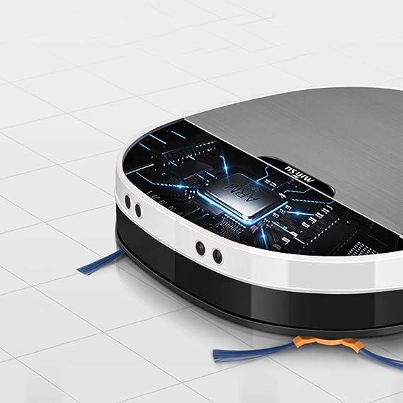 HCDMRE Robot Aspirador, 2200pa succión energía robótica aspiradora con MOP, ultrasonido posicionamiento navegación autocargador Robot Limpieza con ...