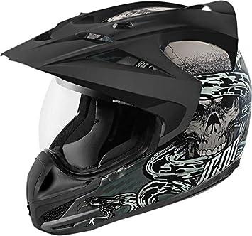 Amazonfr Icon Ride Casque Moto Icon Variant Vitriol Gris Gris L