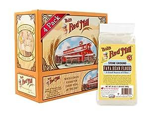 Bob's Red Mill Fava Bean Flour, 24 Ounce (Pack of 4)
