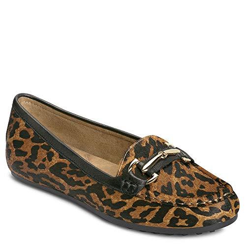 Aerosoles Women's Drive Along Loafer Leopard Combo