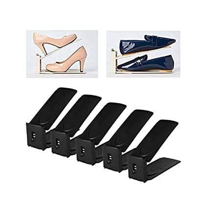 HARRA HOME Premium 3step Adjustable Shoe Slots Space Saver, Easy Shoe Slotz Organizer Double Shoe Rack Storage for Closet, Shoes Holder for Sneaker