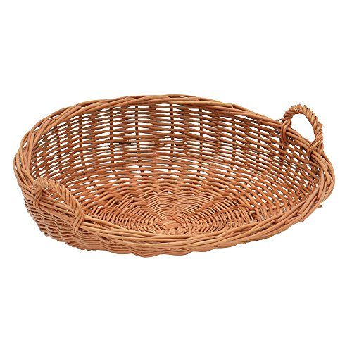 Basket With Handles Round Natural Willow 18