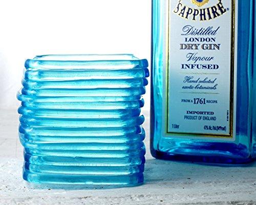 Bombay Sapphire Gin Bottle (Sapphire Blue Gin Bottle Bangle - Recycled Bombay Sapphire Bottle Stackable Bracelet)