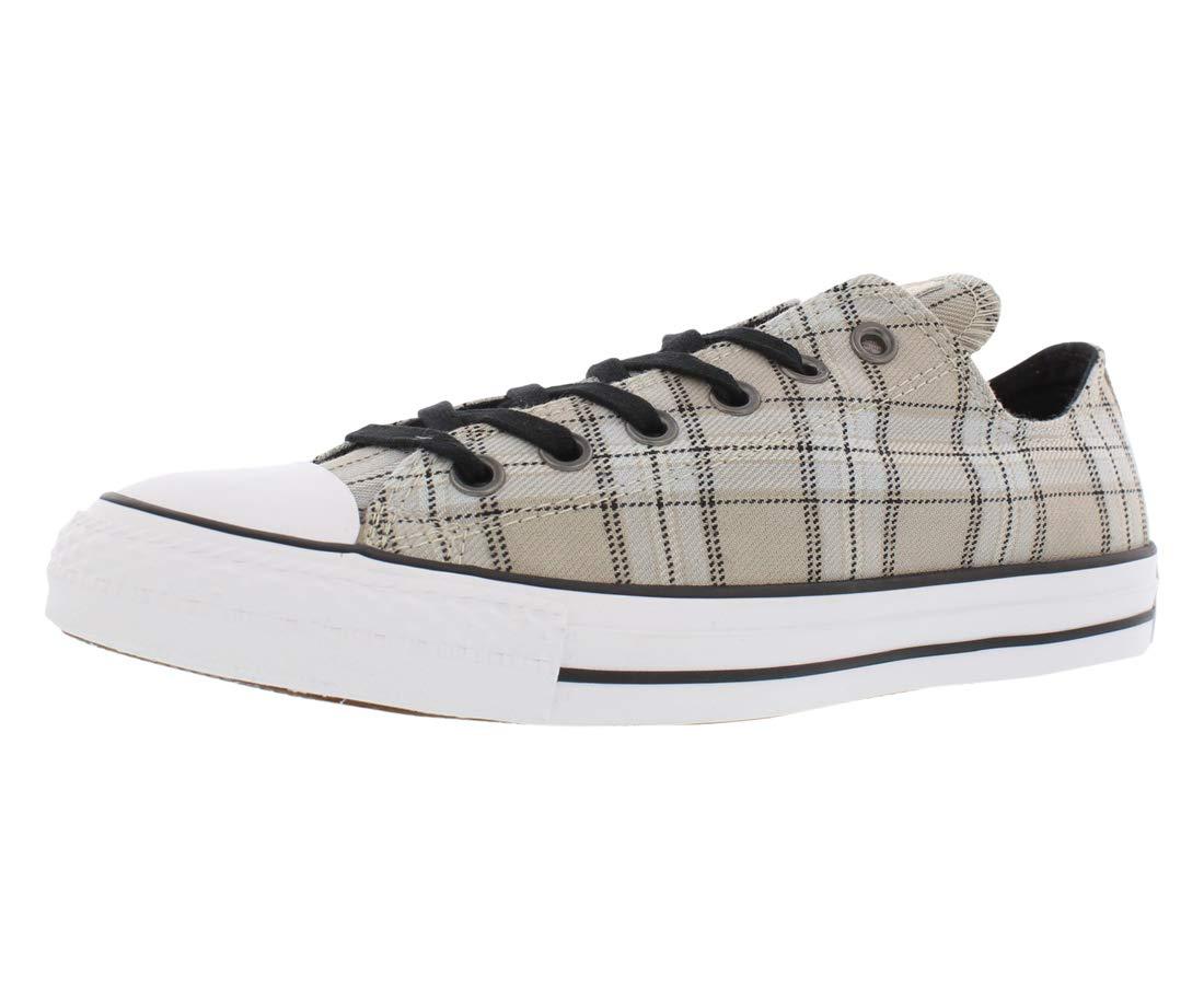 7c6f18b98f0c Galleon - Converse Chuck Taylor All Star Plaid Ox Sneaker Shoe -  Papyrus Black Gray - Womens - 9