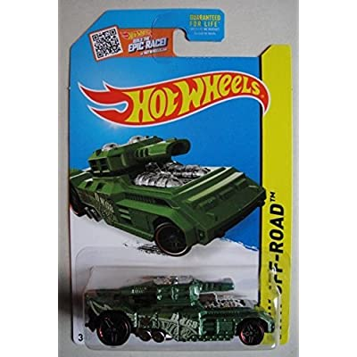HOT WHEELS HW OFF ROAD GREEN INVADER 87/250 BUILD THE EPIC RACE CARD: Toys & Games