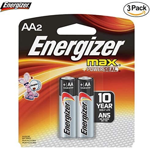 Energizer E91BP-2 AA Size Alkaline General Purpose Battery 6-2 Packs 12 Batteries Total 1.5 V DC AA Alkaline