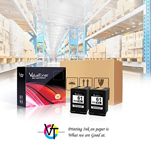Valuetoner Remanufactured Ink Cartridge Replacement for HP 61XL 61 XL High Yield for HP Envy 4500 5530 5534, Deskjet 2540 1000 1010, Officejet 4630 2620 4635 Printer (2 Black) by Valuetoner (Image #3)