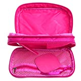 Yumian Multifunction 2-layer Travel Cosmetic Bag Makeup Case Toiletry Organizer (Hot Pink)