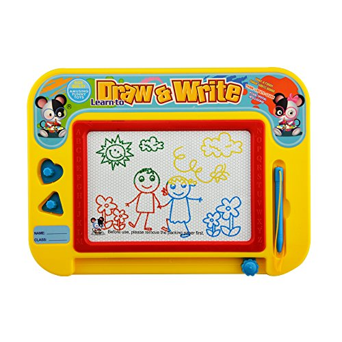 Lbyurs Magnetic Drawing Board for Kids Magnetic Erasable Colorful Drawing Board Toy Gift for Babies Kids Toddlers Children( Travel Size - Magnetic Kit Drawing