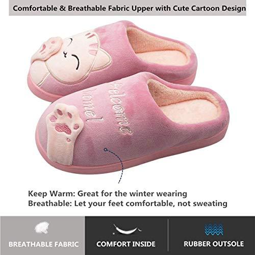 Inverno Cartone YOOEEN Memoria Cotone Uomo Animato Donna Scarpe Rosa Ciabatte Carino Bambini da Invernale Pantofole di Casa Rosso Confortevole Caldo Interne Suola di Peluche rrpz45wq