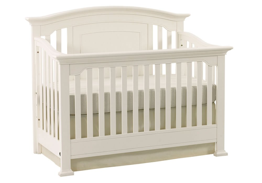 Full Size Conversion Kit Bed Rails for Munire Medford Crib - White