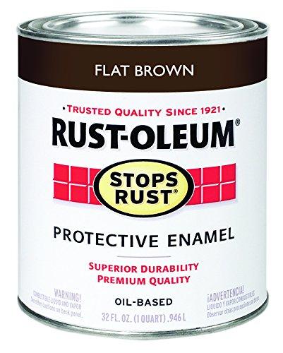 Rust-Oleum 239083 Stops Rust, 32 oz. Quart, Flat Brown -