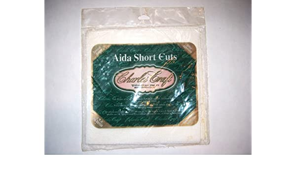 Amazon.com: Charles Craft AIDA Short Cuts Cloth 14 Count (White, Ivory, Antique White) 6 Pieces of 6