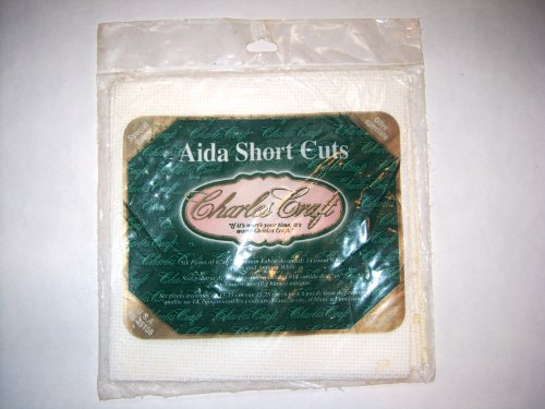 Charles Craft AIDA Short Cuts Cloth 14 Count (White, Ivory, Antique White) 6 Pieces of 6