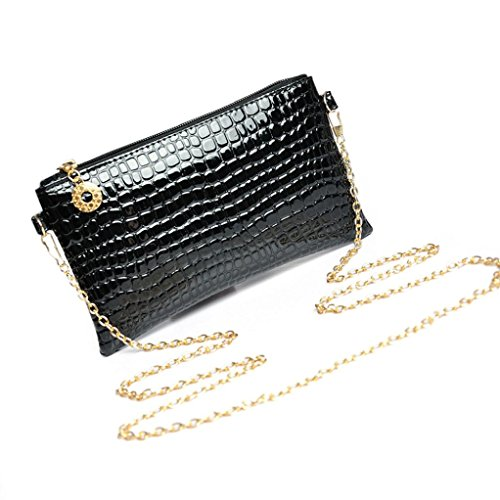Woman Shoulder Bag Mini Leather Cheap CrossBody Bag for Girl by TOPUNDER (Mesh Metallic Evening Bag)