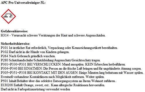 KS TOOLS Druckluft Reinigungs-Pistole Reinigungspistole HURRICANE 515.1980 2x ADBL APC PRO Universalreiniger 5L
