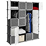 Best Choice Products 20 Unit Cubby Cabinet Storage Wall Drawers for Closets, Clothing, Shoes (Gray)