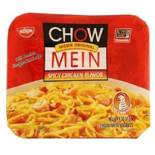 Nissin Original Chow Mein Spicy Chicken Flavor (Pack of 8) (Best Chicken Chow Mein)