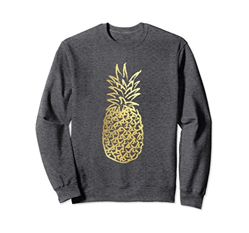 Ls Twill Work Shirt (Unisex Gold Pineapple Sweatshirt Small Dark Heather)