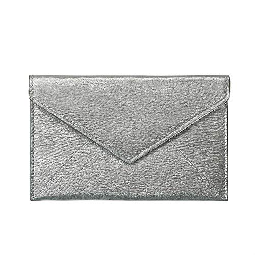 Silver Metallic Luxe Leather Photo Envelope Medium by Graphic ImageTM -