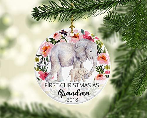 Grandma Elephants - rfy9u7 First Christmas as Grandma Ornament Grandmother to Be Ornament with Elephants from Grandchild Stocking Stuffer