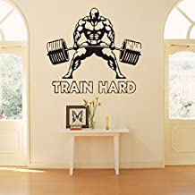 Fangeplus(TM) Muscular Man Weightlifting Fitness DIY Removable Art Mural Vinyl Waterproof Wall Stickers Kids Room Decor Powerhouse Gym Decal Sticker Wallpaper 27.5''x22.4''