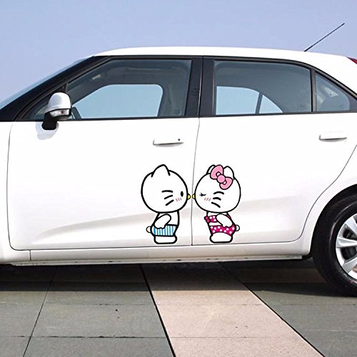 L hello kitty cat love couple kissing shy side door windshield random body wall decals car stickers buy online in kuwait boutique sticker products in
