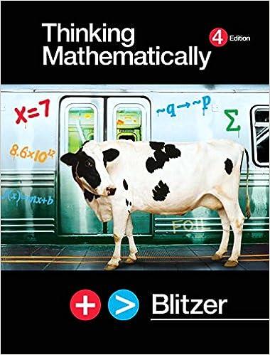 Thinking mathematically plus mymathlab student access kit (4th.