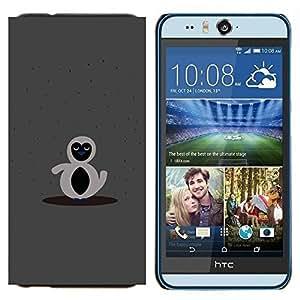 YiPhone /// Prima de resorte delgada de la cubierta del caso de Shell Armor - Gray cuenta pingüino gris - HTC Desire Eye M910x