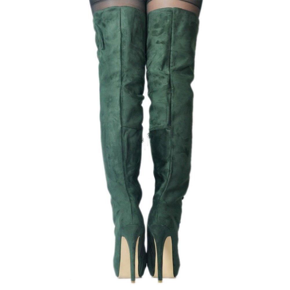 Overknee-Stiefel Damen,MERUMOTE Stiletto Rounde Rounde Rounde Plattform Sexy Schuhe für Part Club Ausgehen a798b5