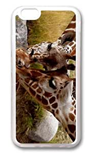 MOKSHOP Adorable Giraffe Parental Love Soft Case Protective Shell Cell Phone Cover For Apple Iphone 6 (4.7 Inch) - TPU Transparent