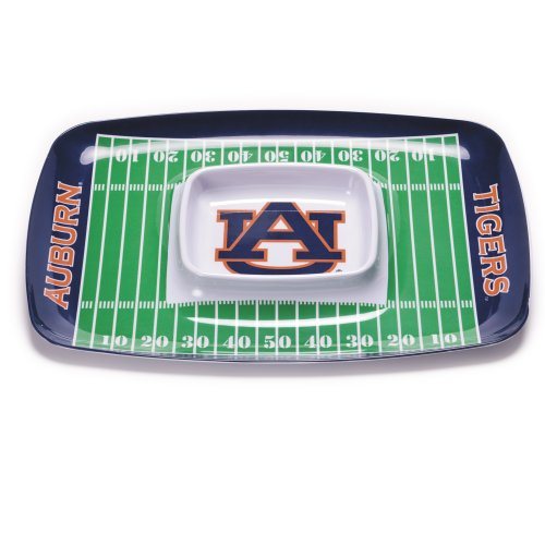 NCAA Auburn Tigers Melamine Chip and Dip Tray
