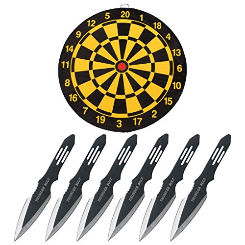 Perfect Point RC-595-3 Throwing Knife set with six knives and Throwing Knife Target