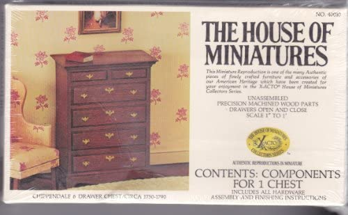 The House of Miniatures Chippendale 6 Drawer Chest