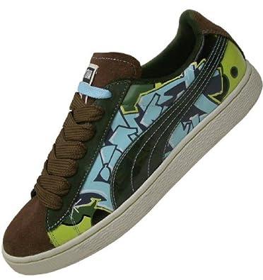 PUMA Sneaker SUEDE 80 brauntürkis Gr.42: : Schuhe