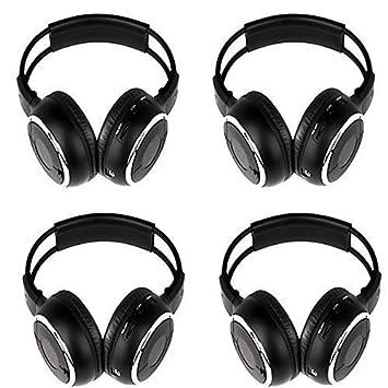 Juego de 4 piezas de dos canales inalámbrico infrarrojos estéreo para auriculares, sistema de entretenimiento