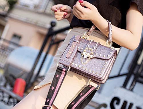 Mode Vachette Rouge décontracté de WENLONG Seule Sac épaule Lady Mode Sac Mode Rose WvXX4wU76z