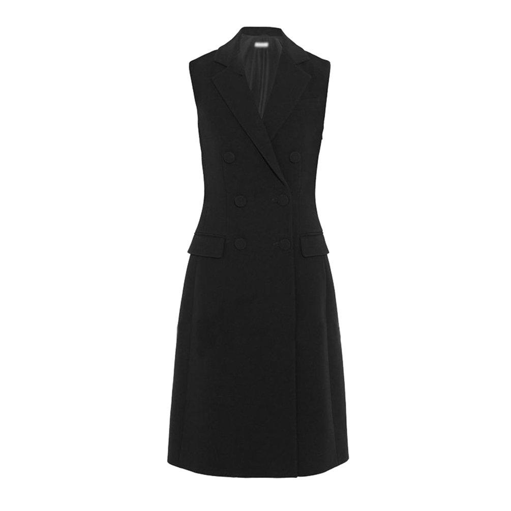CHENGYANG Damen Anzug Kragen Ärmellos Zweireiher Blazer Jacke V-Ausschnitt Anzugweste