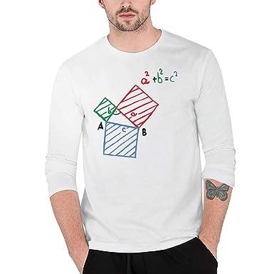 YpingLonk Camiseta Hombre Formula Delgado Separación Impresión ...